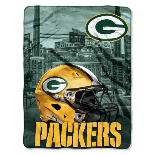 1NFL071030017RET: NW NFL HERITAGE SILK THROW, PACKERS